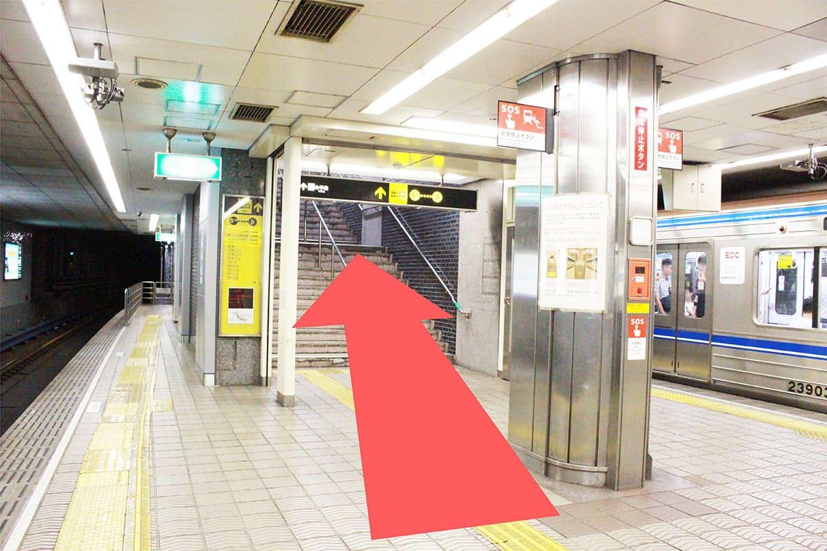 四ツ橋線 肥後橋駅からの道順