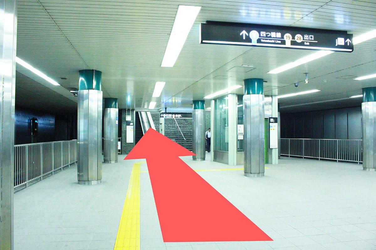 中央線 本町駅からの道順